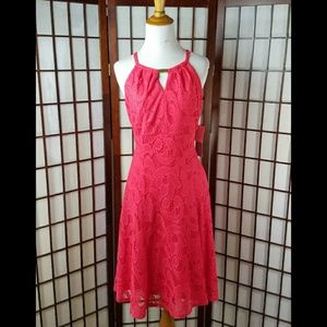 NWT LONDON TIMES LACE LAYOVER FIT &FLARE DRESS